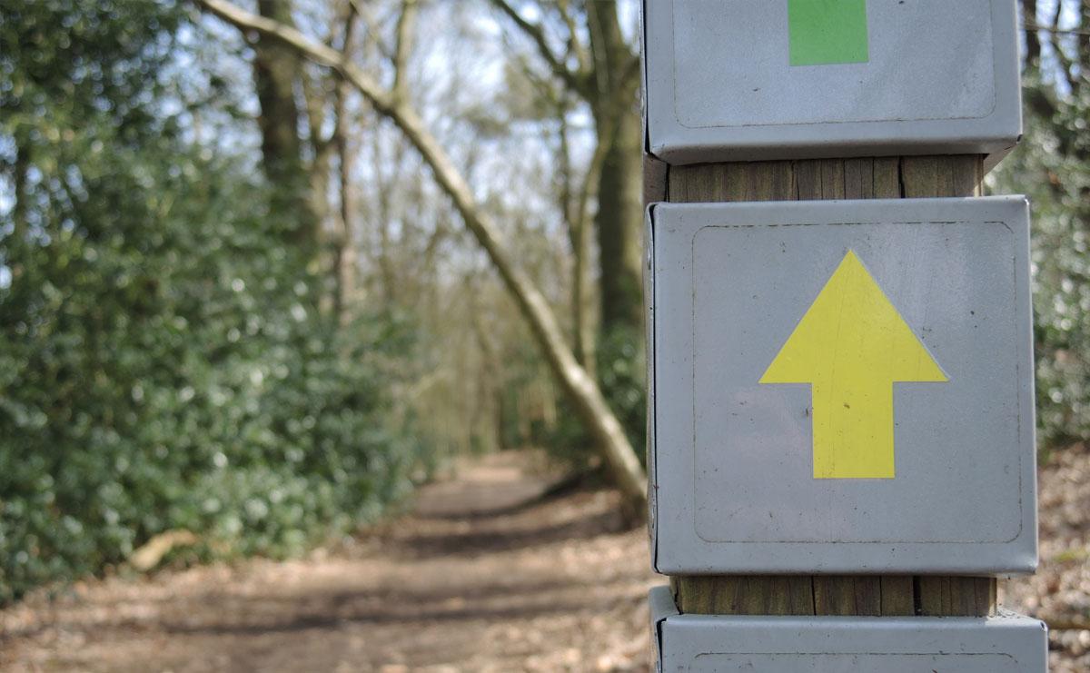 voetzoekers-reestdal-routeaanduiding