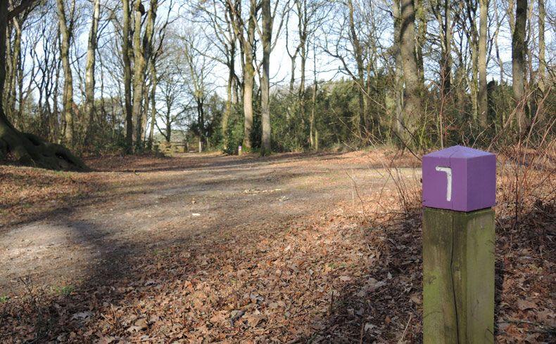 voetzoekers-kampsheide-route-markering