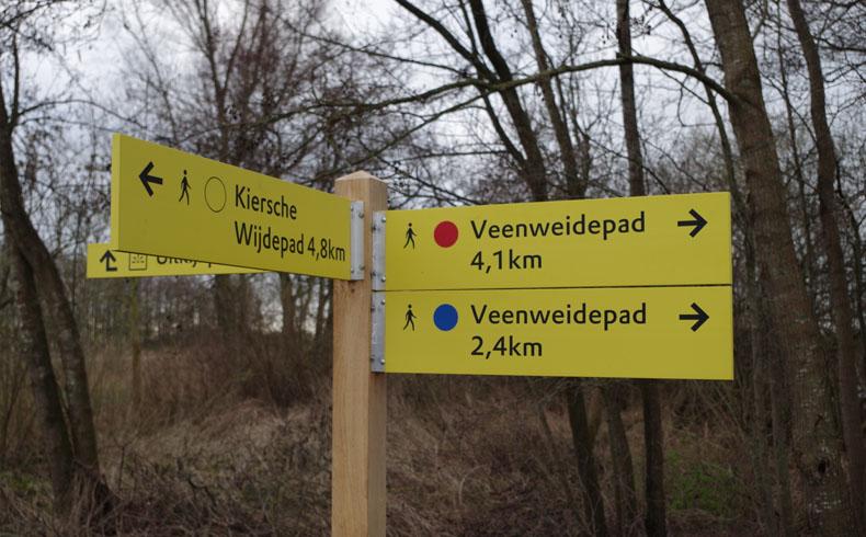 voetzoekers-veenweidepad-routebord